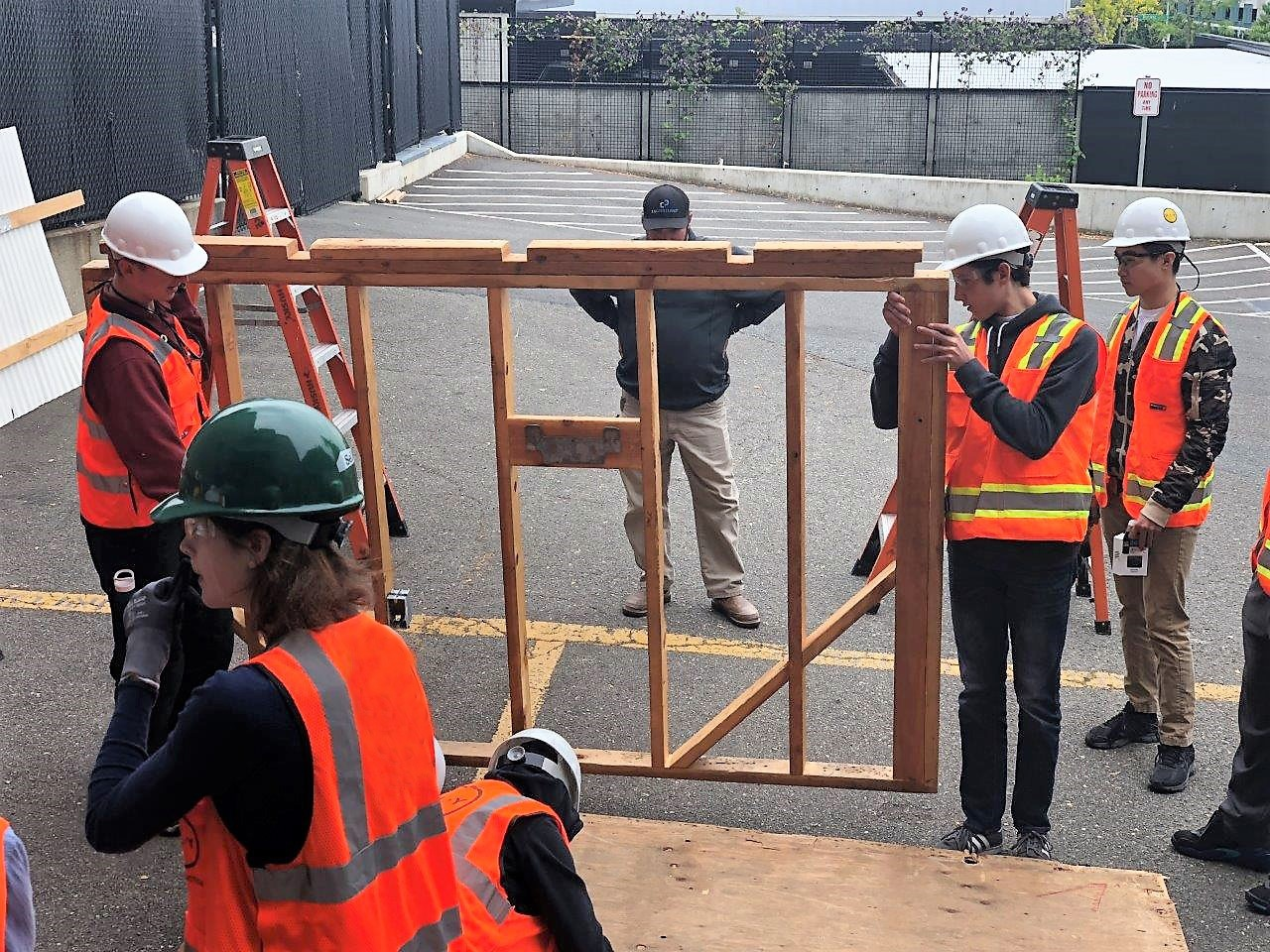 Rush Commercial volunteers at AGC Build your Future Event At University of Washington