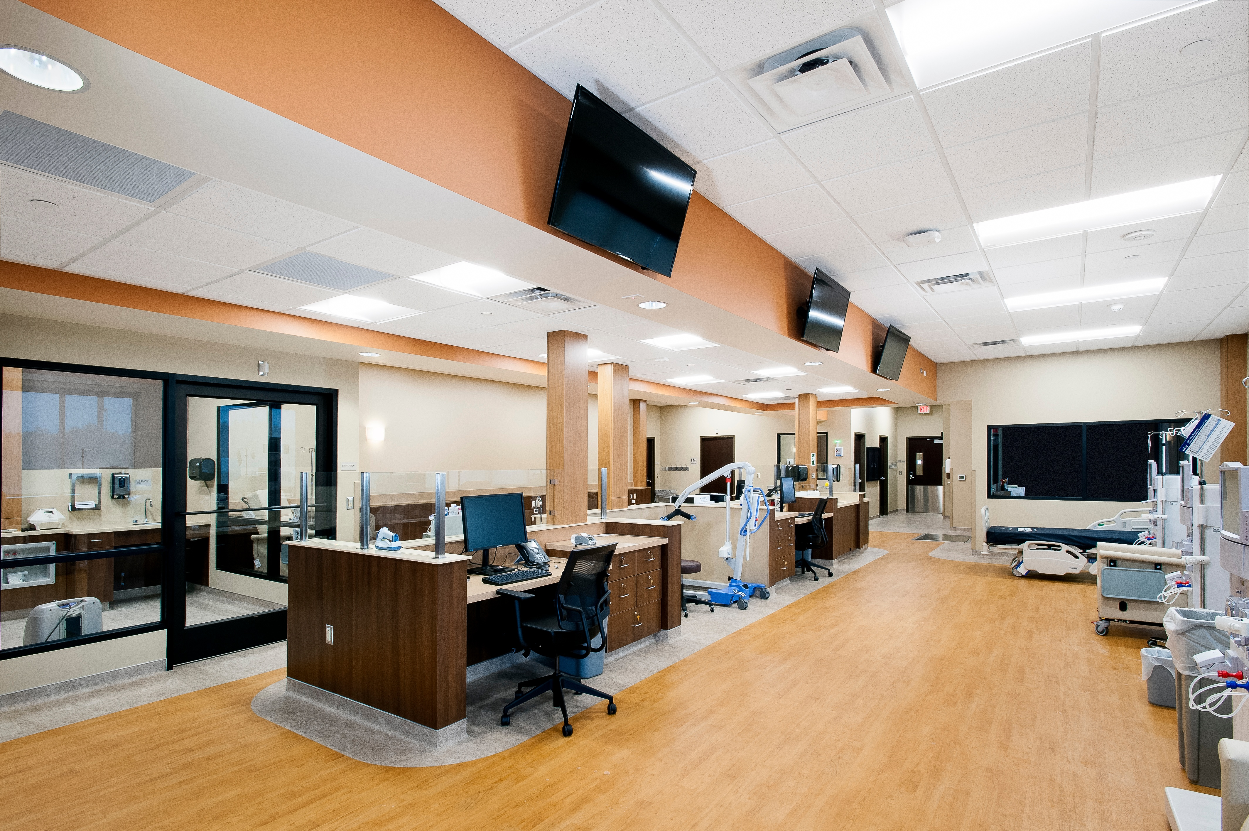 Rush Commercial's Special Project Division recently finishes St. Joe's Medical Center Dialysis Clinic
