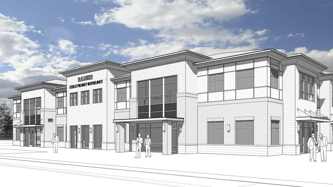 Cancer Care Medical Office Building under construction in Puyallup