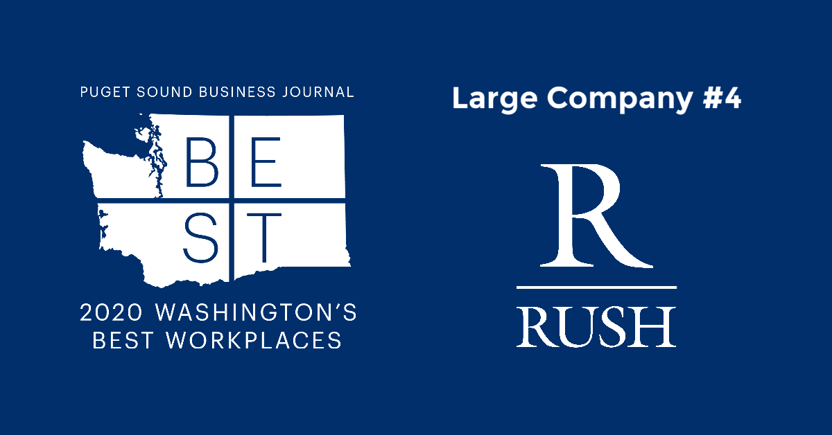 PSBJ: The Rush Companies Ranked #4 Out of All Large Sized Companies in Washington!